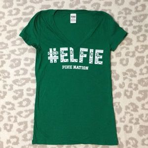 VS Pink Christmas Elfie T-shirt